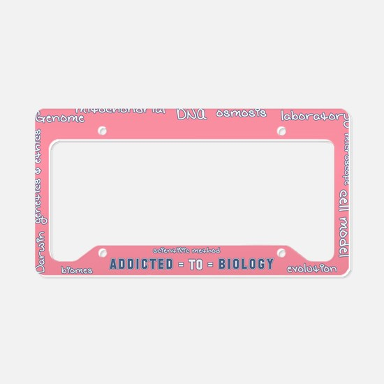 Addicted to Biology License Plate Holder