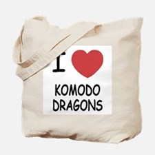 I heart komodo dragons Tote Bag