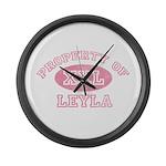 Property of Leyla Large Wall Clock
