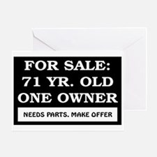 For Sale 71 Year Old Greeting Card