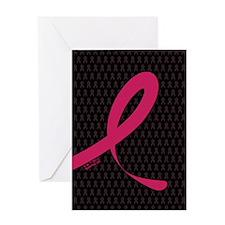 Ribbon 01 (DkPink/Black) Greeting Card