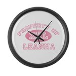 Property of Leanna Large Wall Clock