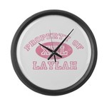 Property of Laylah Large Wall Clock