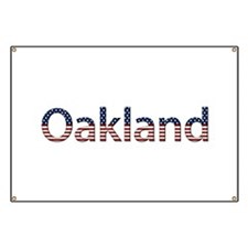 Oakland Stars and Stripes Banner