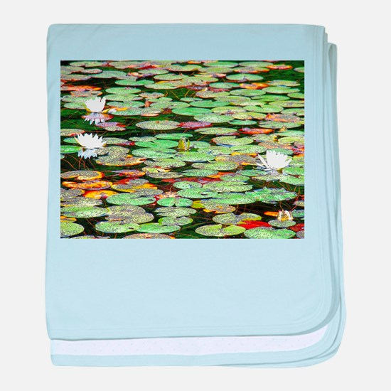Lily Pad Garden baby blanket