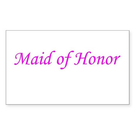 MAID OF HONOR Rectangle Sticker