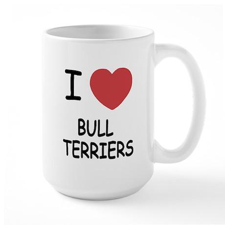 I heart bull terriers Large Mug