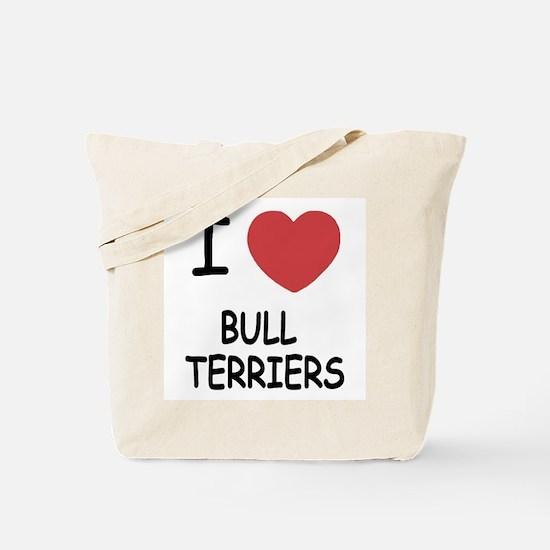 I heart bull terriers Tote Bag