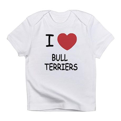 I heart bull terriers Infant T-Shirt