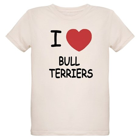 I heart bull terriers Organic Kids T-Shirt