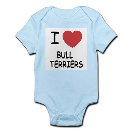 I heart bull terriers Infant Bodysuit