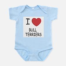 I heart bull terriers Infant Bodysuit