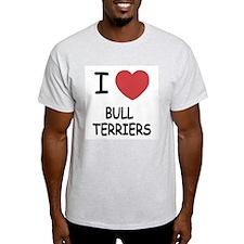 I heart bull terriers T-Shirt
