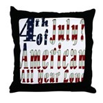 American All Year Throw Pillow