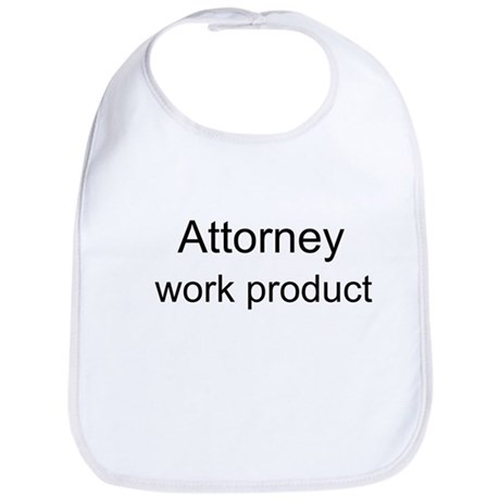 Attorney Work Product baby bib