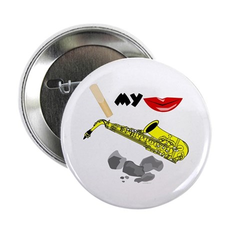 Reed My Lips Sax Rocks Button