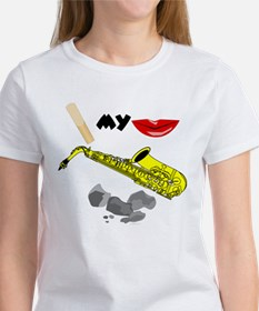 Reed My Lips Sax Rocks Tee