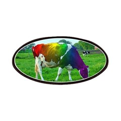 Rainbow Cow Patches