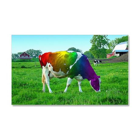 Rainbow Cow Car Magnet 20 x 12