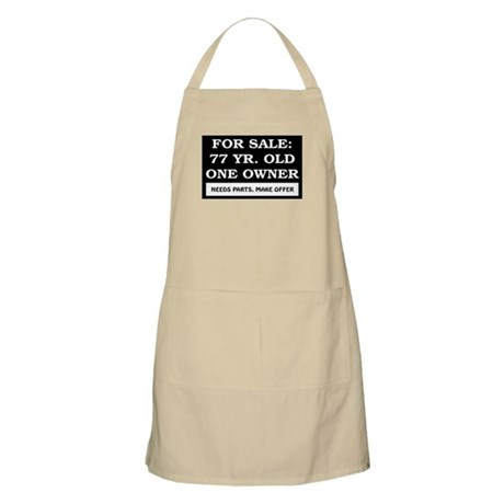 For Sale 77 Year Old Birthday Apron