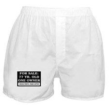 For Sale 77 Year Old Birthday Boxer Shorts