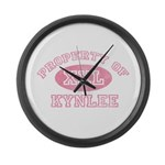 Property of Kynlee Large Wall Clock