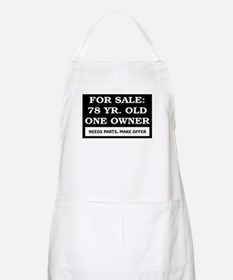 For Sale 78 Year Old Birthday Apron