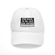 For Sale 78 Year Old Birthday Baseball Cap