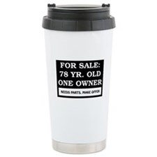 For Sale 78 Year Old Birthday Travel Mug