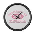 Property of Kyndall Large Wall Clock