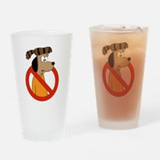 Anti-Volunteer Drinking Glass
