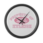 Property of Kyleigh Large Wall Clock