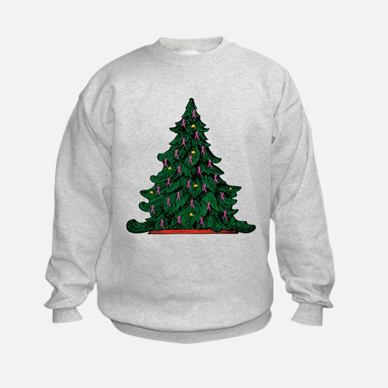 Pink Ribbon Christmas Tree Sweatshirt