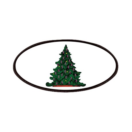 Pink Ribbon Christmas Tree Patches