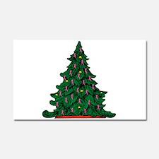 Pink Ribbon Christmas Tree Car Magnet 20 x 12