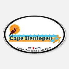 Cape Henlopen DE - Oval Design Decal