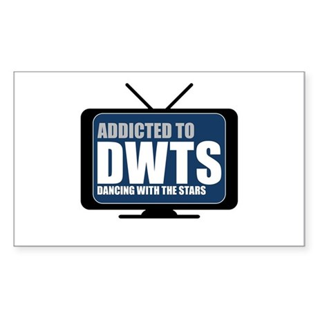 Addicted to DWTS Rectangle Sticker