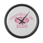 Property of Kloe Large Wall Clock