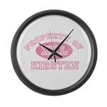 Property of Kirsten Large Wall Clock