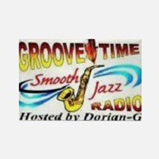 Groove-Time Smooth Jazz Rectangle Magnet