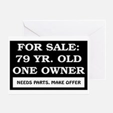 For Sale 79 Year Old Birthday Greeting Card