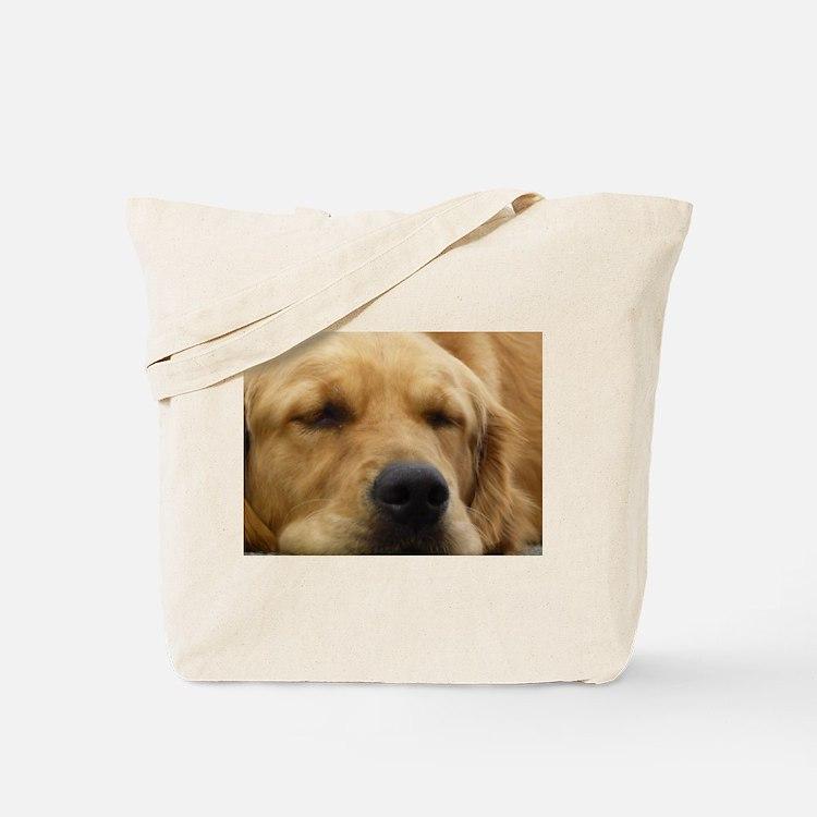 Golden Retriever sleeping Tote Bag