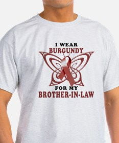 I Wear Burgundy for my Brothe T-Shirt