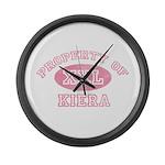 Property of Kiera Large Wall Clock