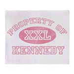 Property of Kennedy Throw Blanket