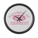Property of Kennedy Large Wall Clock