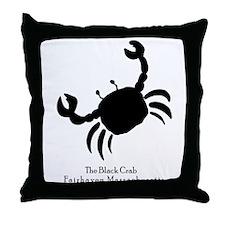 The Black Crab Throw Pillow