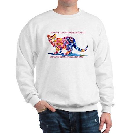 Cats Pitter Patter of Little Feet Sweatshirt