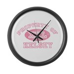 Property of Kelsey Large Wall Clock