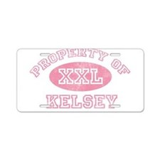 Property of Kelsey Aluminum License Plate